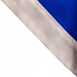 Foulard Bleu Roy - Blanc