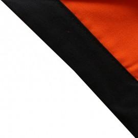 Foulard Orange - Noir