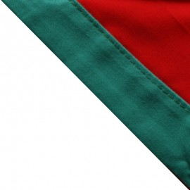 Foulard Rouge - Vert vif