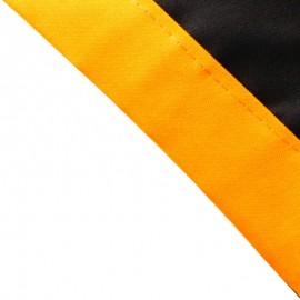 Foulard Noir - Orange