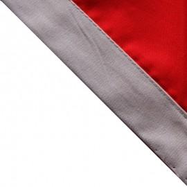 Foulard Rouge - Gris