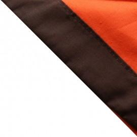 Foulard Orange - Brun