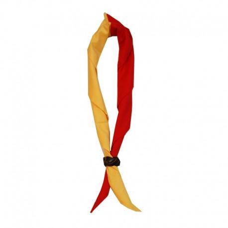 b860632a4502 Foulard moitié Rouge - moitié Jaune - Lascouterie.be-Economats.be