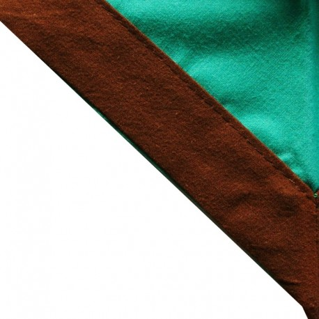 Foulard Vert clair - Brun