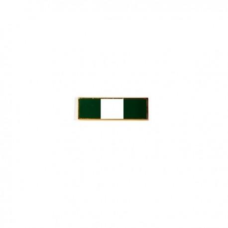 Barrette verte & blanche