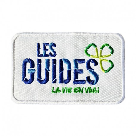 Badge Logo Guides blanc