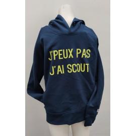 """Sweat """"J'PEUX PAS, J'AI SCOUT"""" - modèle garçon"""
