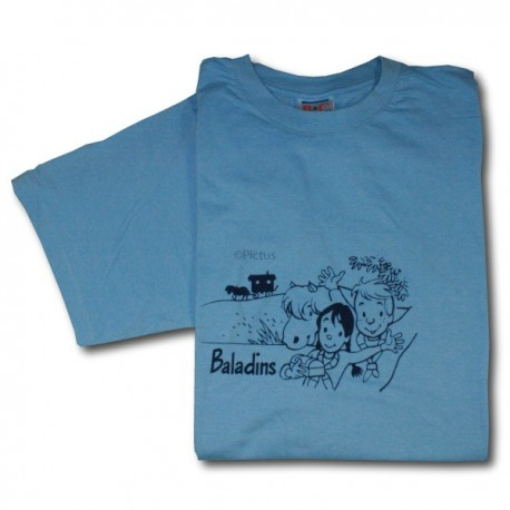 T-Shirt BLEU CIEL -Baladins (S à XXL)