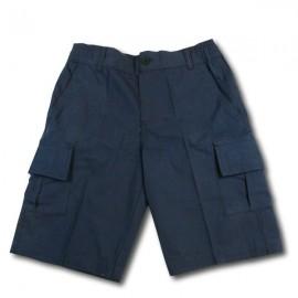 Short coton Bleu