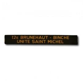 Nominette Unité personnalisable (100 ex.) - Jaune - Fond Noir