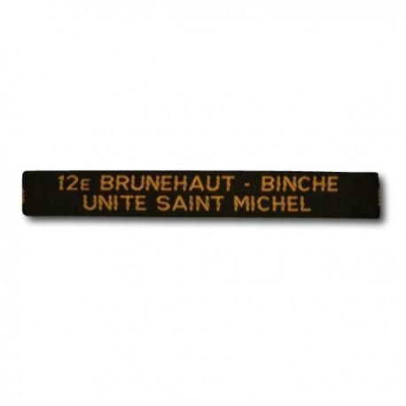 Nominette Unité personnalisable (100 ex.) - Jaune - Fond Blanc