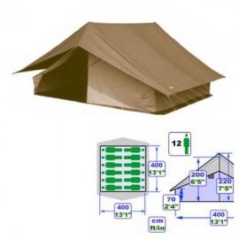 T012 - Tente Super Patrouille Alpino - 4x4m - Brun