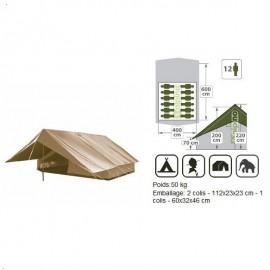 T013 - Tente Super Patrouille Alpino - 6x4m - Brun - 12 pers + A