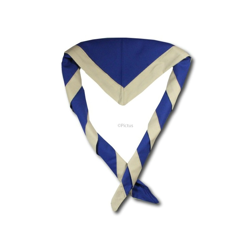 e2add290fbae Foulards Normaux Fond Bleu Roy - Lascouterie.be-Economats.be