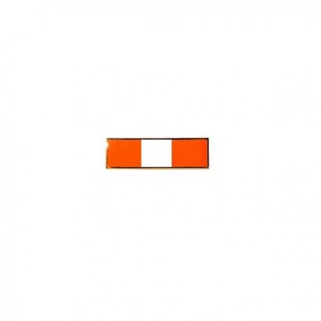 barrette orange & blanche