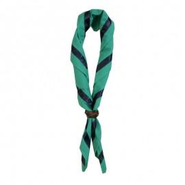 Foulard Vert clair - gallon marine brillant 1 cm
