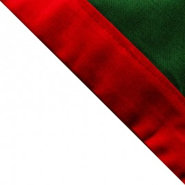 Foulard Vert foncé - Rouge