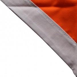 Foulard Orange - Gris