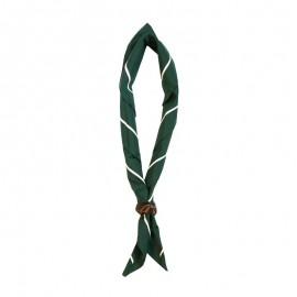 Foulard Vert foncé - liseré blanc