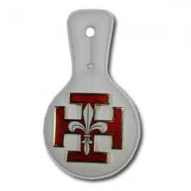 Croix Emaillée sur Sucette Blanche
