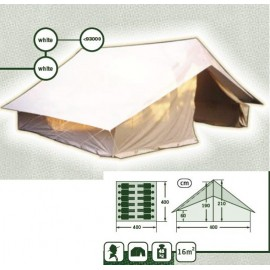 T001 - Tente Patrouille Europ d'Alpino - 4x4m - Toit Blanc