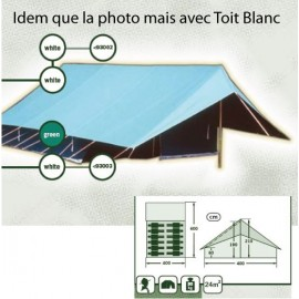T003 - Tente Patrouille Europ d'Alpino - 6x4m - Toit Blanc